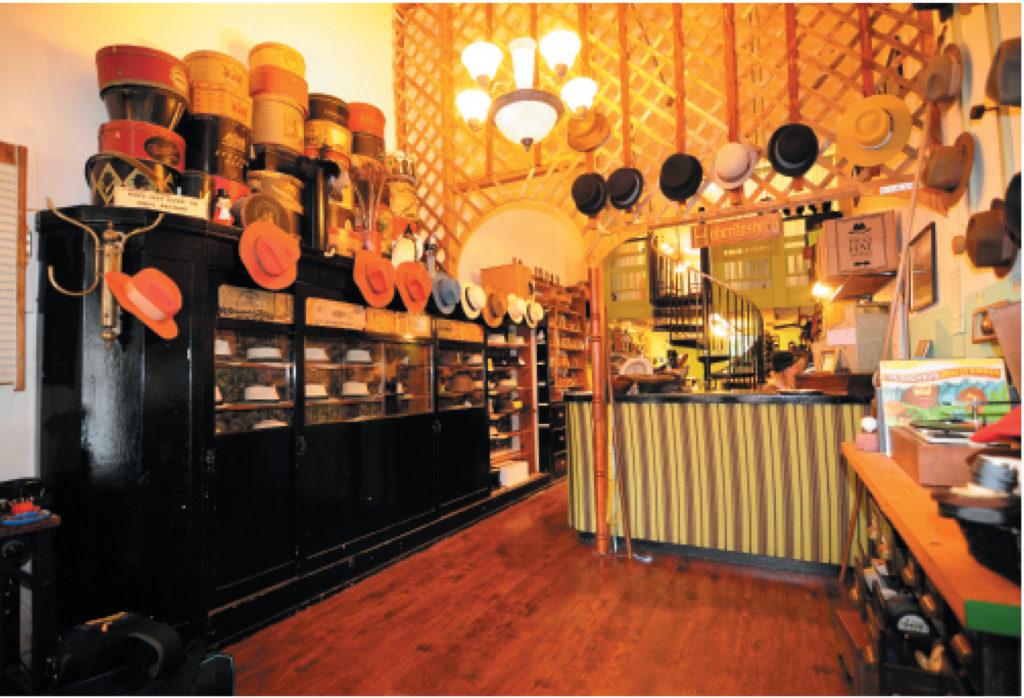 Paul Hats Work's shop in San Francisco (photography credit: Richard Williamson)